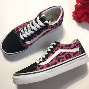 New Vans old Skool Leopard Pink Black Sneakers